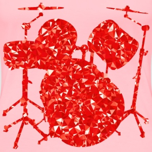 Ruby Drums Set Silhouette - Women's Premium T-Shirt
