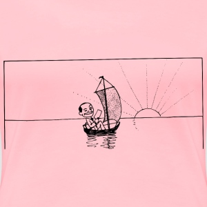 Winking Man in Sailboat - Women's Premium T-Shirt