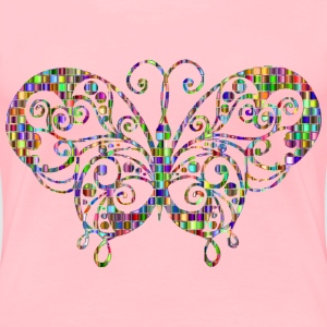 Chromatic Mosaic Flourish Butterfly - Women's Premium T-Shirt