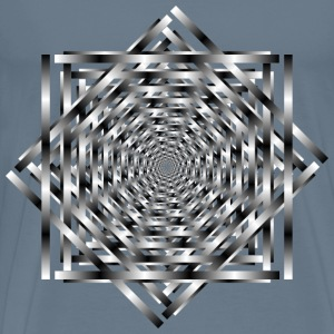 Interlocking Optical Illusion Vortex - Men's Premium T-Shirt