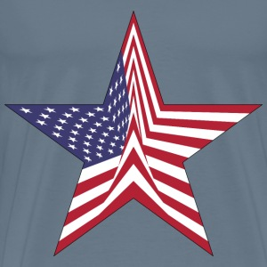 America Flag Star With Stroke - Men's Premium T-Shirt