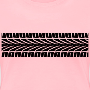 Tire Tracks - Women's Premium T-Shirt