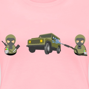 HAZMAT military car decontamination - Women's Premium T-Shirt