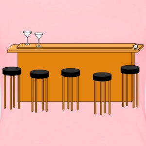 bar with stools - Women's Premium T-Shirt