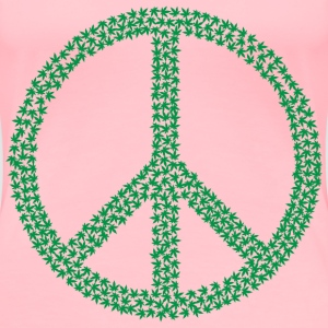 Marijuana Peace Sign - Women's Premium T-Shirt