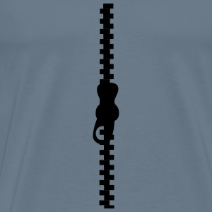 Straight zipper - Men's Premium T-Shirt