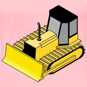 Isometric bulldozer - Women's Premium T-Shirt