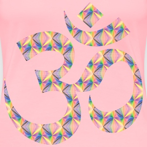 Prismatic Patterned Om Symbol No Background - Women's Premium T-Shirt