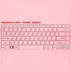 Keyboard Laptop Arabic - Women's Premium T-Shirt