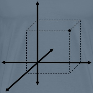 3D Cartesian Plane Point B - Men's Premium T-Shirt