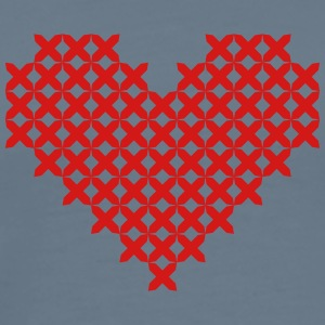 Cross Stitched Heart Red - Men's Premium T-Shirt