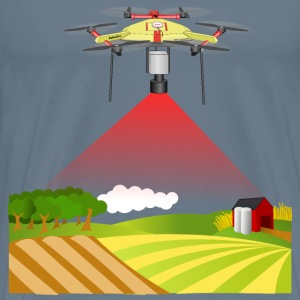 drone / UAV land sensing / monitoring - Men's Premium T-Shirt