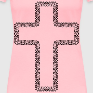 Decorative Ornamental Cross - Women's Premium T-Shirt