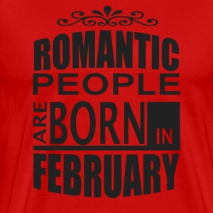 born in february T-Shirts - Men's Premium T-Shirt
