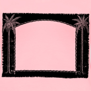 Palm Tree Frame - Women's Premium T-Shirt