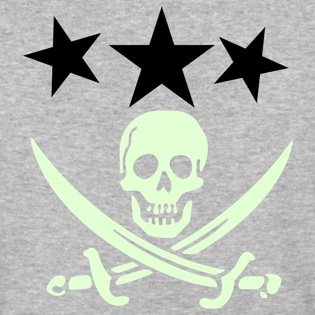 3 stars with pirate logo GITD