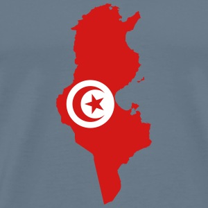Tunisia Flag Map - Men's Premium T-Shirt