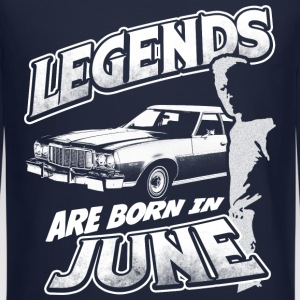 legends are born in june birthday Long Sleeve Shirts - Crewneck Sweatshirt