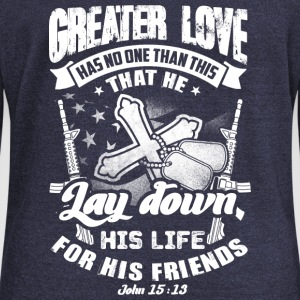 Greater love has no one than this quote Long Sleeve Shirts - Women's Wideneck Sweatshirt