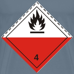 ADR pictogram 4.2Spontaneously combustibles - Men's Premium T-Shirt