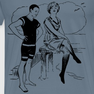 Beach Couple - Men's Premium T-Shirt