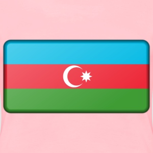 Azerbaijan flag (bevelled) - Women's Premium T-Shirt