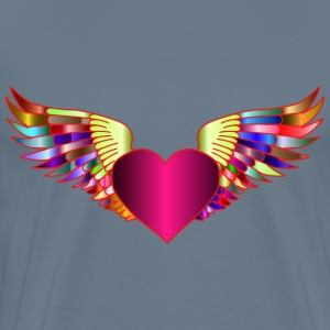 Prismatic Flying Heart 2 - Men's Premium T-Shirt