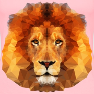 Low Poly Lion Face - Women's Premium T-Shirt