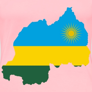 Rwanda Flag Map - Women's Premium T-Shirt