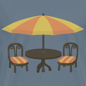 Outdoor cafe seating - Men's Premium T-Shirt
