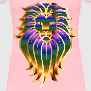 Chromatic Lion Face Tattoo 2 No Background - Women's Premium T-Shirt