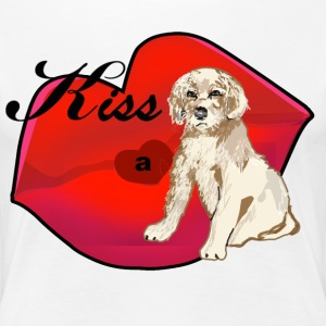Kiss A Golden Retriever Puppy - Women's Premium T-Shirt