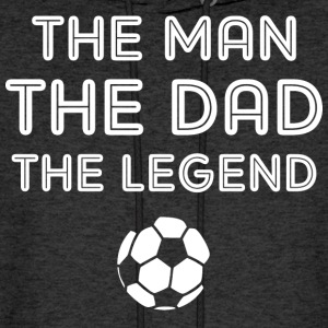 Legendary Soccer Dad WHT Hoodies - Men's Hoodie