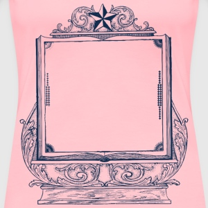 Decorative Book Frame - Women's Premium T-Shirt