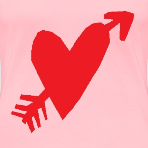 Heart and Arrow - Women's Premium T-Shirt