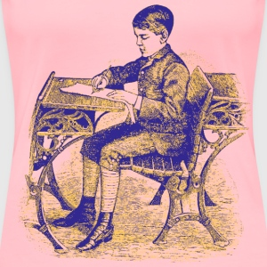 Boy at school 05 - Women's Premium T-Shirt