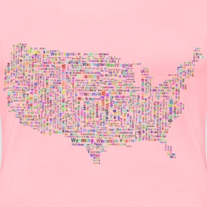 Prismatic America States And Capitals Word Cloud  - Women's Premium T-Shirt