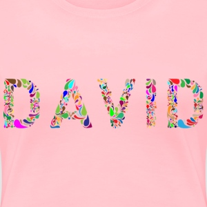 David Typography - Women's Premium T-Shirt
