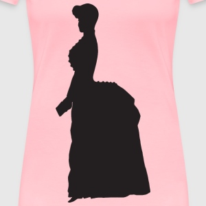 Old Fashioned Victorian Woman Silhouette Variation - Women's Premium T-Shirt