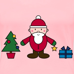 Simple Santa Claus Christmas Scene - Women's Premium T-Shirt