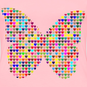 Colorful Hearts Butterfly - Women's Premium T-Shirt