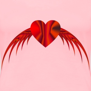 Flying Heart 5 - Women's Premium T-Shirt