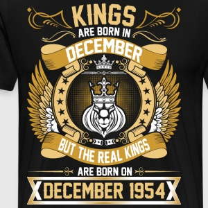 The Real Kings Are Born On December 1954 T-Shirts - Men's Premium T-Shirt