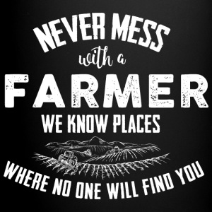 Farmer Never mess Mugs & Drinkware - Full Color Mug
