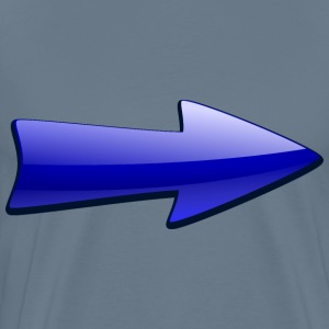 Shiny Blue Arrow - Men's Premium T-Shirt