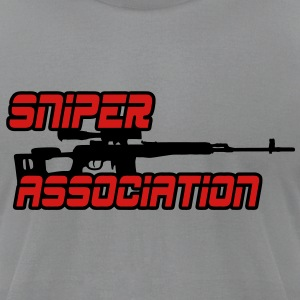 Sniper Association T-Shirts - Men's T-Shirt by American Apparel