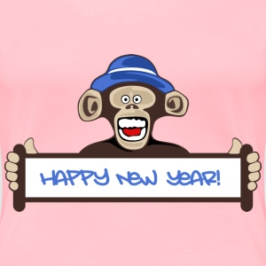 Happy New Year Monkey - Women's Premium T-Shirt