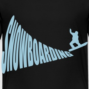 Snowboarding Ski Snow 1c CYO Baby & Toddler Shirts - Toddler Premium T-Shirt