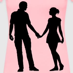 Couple Silhouette - Women's Premium T-Shirt