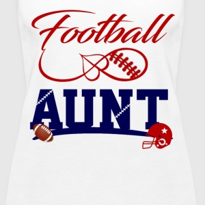 football aunt Tanks - Women's Premium Tank Top